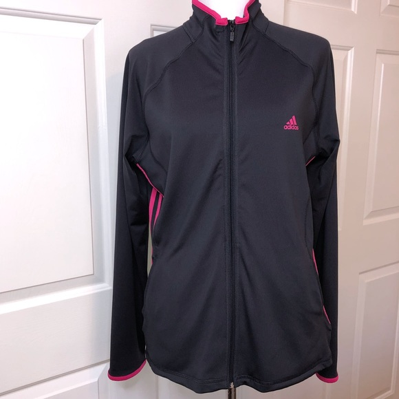 adidas Jackets & Blazers - Adidas Black With Fuchsia Size Large